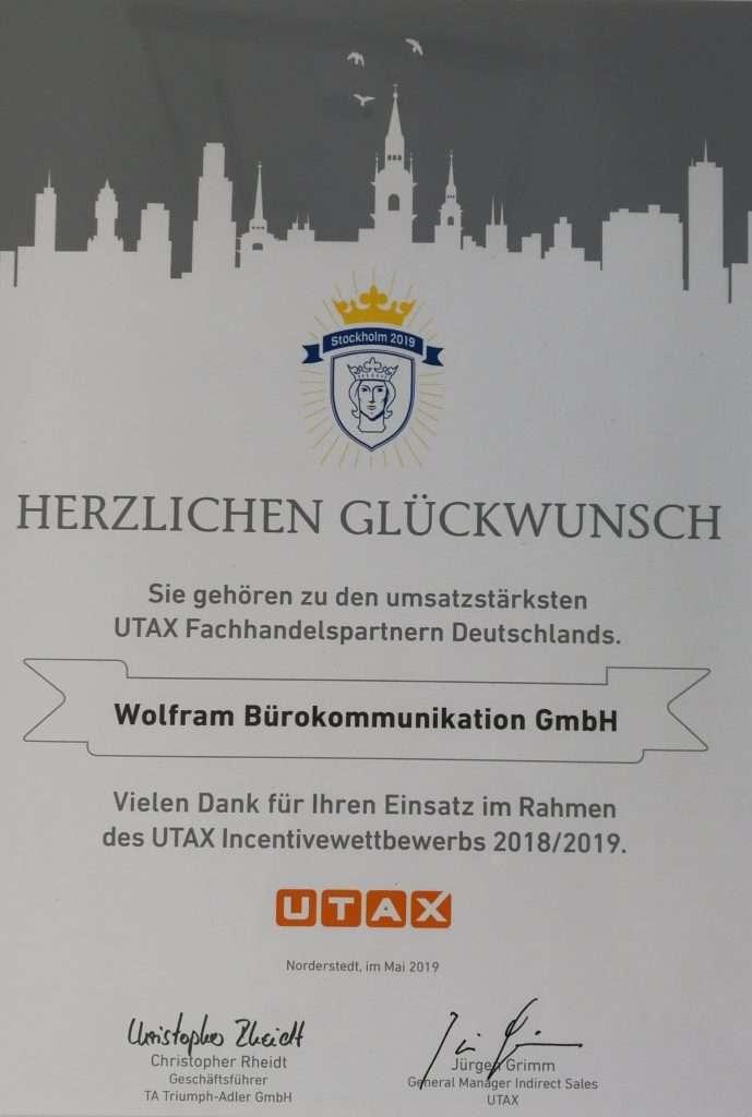 Wir ist ein starker Handelspartner von UTAX