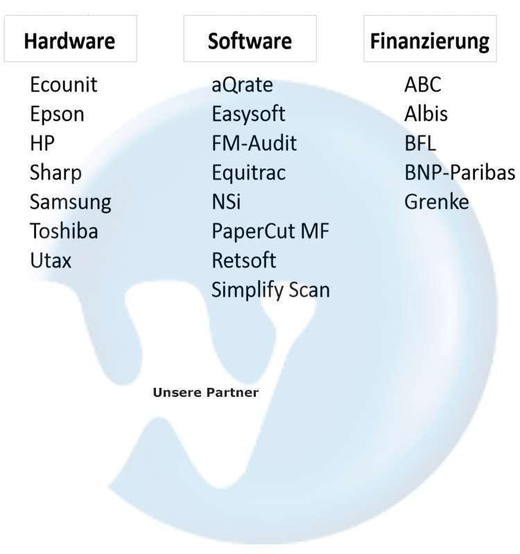Die Partner der Wolfram Bürokommunikation