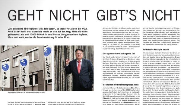 Bericht über Firmengründung beim Stadtmagazin Vis a vis