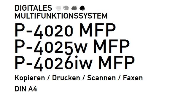 UTAX P-4026iw MFP ipp C